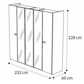 Шкаф 5 дверный Ambra Camelgroup с зеркалами