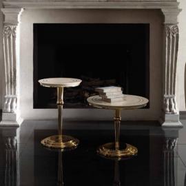 Столик приставной ø50 h50 Arredo Classic Adora Sipario, круглый