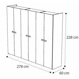 Шкаф 6 дверный Ambra Camelgroup без зеркал