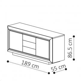 Комод-прилавок 3-дверный с ящиками Camelgroup Elite Sabbia