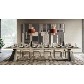 Стол обеденный TENT 160/260х105 Camelgroup Elite Sabbia раскладной