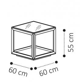 Столик угловой 60х60 Camelgroup Elite Sabbia