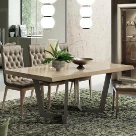 Стол обеденный NET 160/260х105 Camelgroup Elite Sabbia раскладной