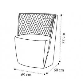 Кресло Camelgroup Daytona, ткань Nabuk 12, кофейная