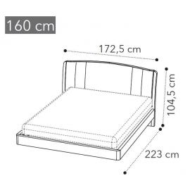 Кровать Camelgroup Maia Trendy 160x200, ткань синяя, Miraglio col.617 Blu