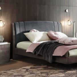 Кровать Camelgroup Maia Trendy 180x200, ткань синяя, Miraglio col. 617 Blu