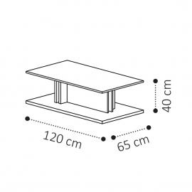 Столик кофейный 120х65 Camelgroup Volare 159TAV.05NP