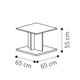 Столик угловой 65х65 Camelgroup Volare 159TAV.04NP