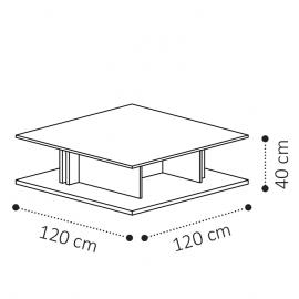 Столик кофейный MAXI 120х120 Camelgroup Volare 159TAV.06NP