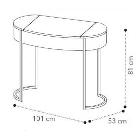 Туалетный столик Camelgroup Round sabbia 160TOI.01AV