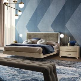 Кровать Camelgroup Maia Sabbia 160х200, ткань  Miraglio 205 Fumo - серая