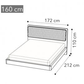 Кровать Camelgroup Maia Sabbia 160х200, ткань MIRAGLIO COL. 617 BLU
