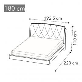 Кровать Slay Camelgroup Maia Sabbia 180х200, ткань 801 Crema 104