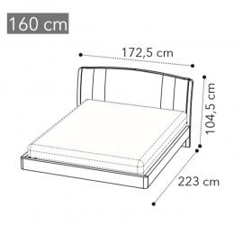 Кровать Trendy Camelgroup Maia Sabbia 160x200, экокожа NABUK COL.12