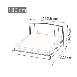 Кровать Trendy Camelgroup Maia Sabbia 180x200, экокожа NABUK 12