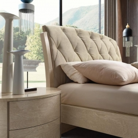 Кровать Slay Camelgroup Maia Sabbia 160х200, ткань 801 Crema 104