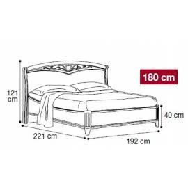 Кровать Nostalgia Camelgroup Bianco Antico 180х200