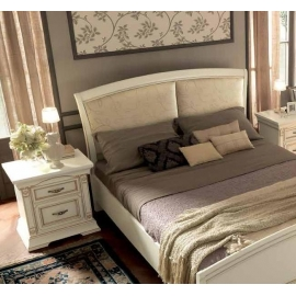 Кровать Palazzo Ducale Laccato Prama 140х200 с мягким изголовьем без изножья 71BO33LT