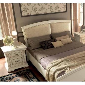 Кровать Palazzo Ducale Laccato Prama 160х200 с мягким изголовьем без изножья 71BO34LT