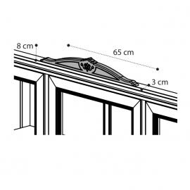 Карниз-корона для витрины опциональная Camelgroup Giotto Bianco 161VT2.05BA