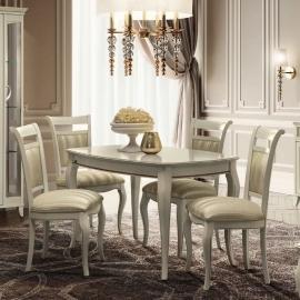 Стол обеденный 140/185x90, Camelgroup Giotto Bianco 161TAV.02BA, раскладной
