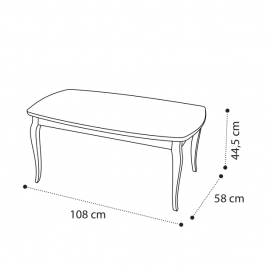 Столик кофейный 108x58 Camelgroup Giotto Bianco 161TAV.03BA