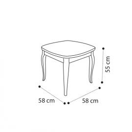 Столик угловой 58x55 Camelgroup Giotto Bianco 161TAV.04BA