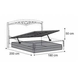 Подъёмный механизм для кровати 180 см Nostalgia Bianco Antico Camelgroup