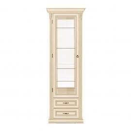 Витрина 1-дверная левая Classico Italiano Палермо белый/ваниль Т-701L