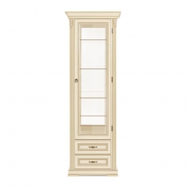 Витрина 1-дверная правая Classico Italiano Палермо белый/ваниль Т-701R