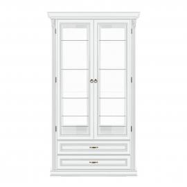 Витрина 2-дверная Classico Italiano Палермо белый/ваниль Т-702
