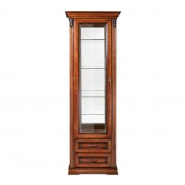 Витрина 1-дверная левая Classico Italiano Палермо янтарь/орех Т-701L/Y/N