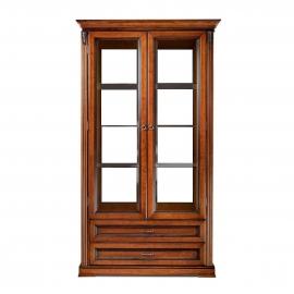 Витрина 2-дверная Classico Italiano Палермо янтарь/орех Т-702Y/N
