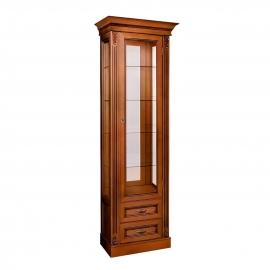 Витрина 1-дверная правая Classico Italiano Палермо янтарь/орех Т-701R/Y/N