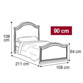 Кровать Nostalgia Camelgroup Bianco Antico 90х200