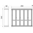Шкаф 5-ти дверный Palazzo Ducale Laccato Prama 71BO05AR - Фото 2