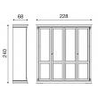 Шкаф 4-х дверный Palazzo Ducale Laccato Prama 71BO04AR - Фото 3