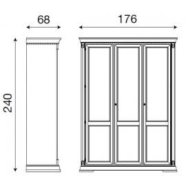 Шкаф 3-дверный Palazzo Ducale Laccato Prama 71BO03AR