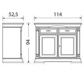 Прилавок 2-дверный Palazzo Ducale Laccato Prama 71BO04