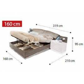 Кровать Drop коллекции Platinum Camelgroup 160x200 см с контейнером