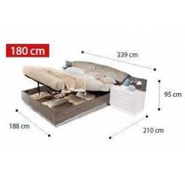 Кровать Drop коллекции Platinum Camelgroup 180x200 см с контейнером
