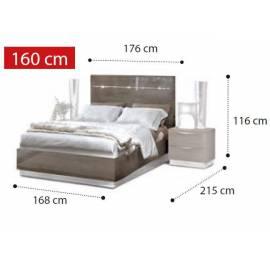 Покрытие Серебристая берёза с глянцем Кровать Legno Platinum Camelgroup 160x200 см
