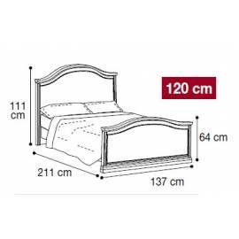 Кровать Nostalgia Camelgroup Bianco Antico 120х200 без ковки