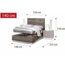Кровать Legno Platinum Camelgroup 140x200 см с контейнером