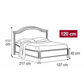 Кровать Nostalgia Camelgroup Bianco Antico 120х200