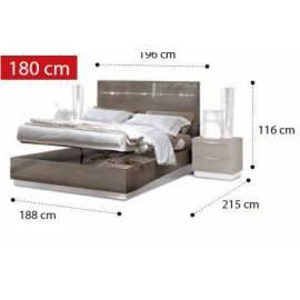Кровать Legno Platinum Camelgroup 180x200 см с контейнером