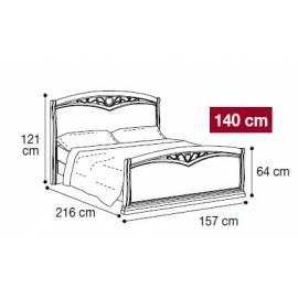 Кровать Nostalgia Camelgroup Bianco Antico 140х200
