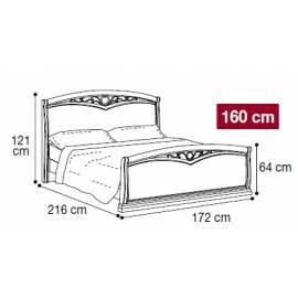 Кровать Nostalgia Camelgroup Bianco Antico 160х200