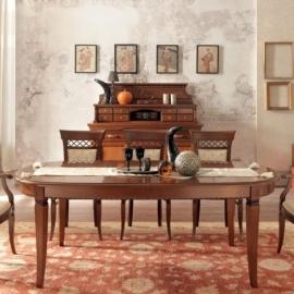 Стол обеденный 210/300 Palazzo Ducale Ciliegio Prama by Bakokko, овальный раздвижной; 71CI58