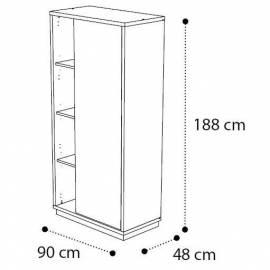 Шкаф книжный Platinum Camelgroup